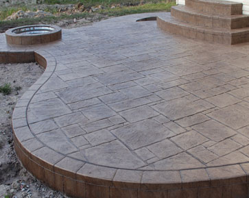 Merveilleux Yorkstone With Border   Thyme/Nutmeg
